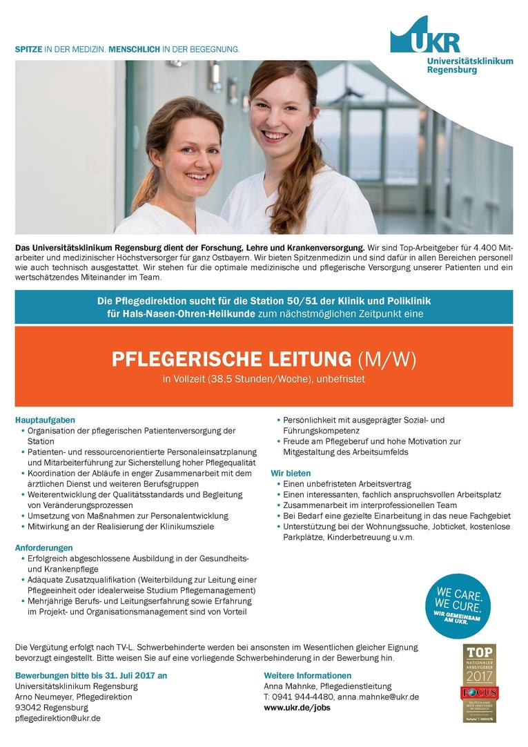 PFLEGERISCHE LEITUNG (M/W)