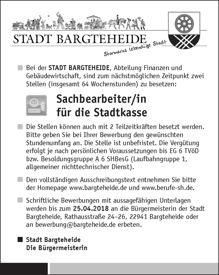 Sachbearbeiter/in Stadtkasse