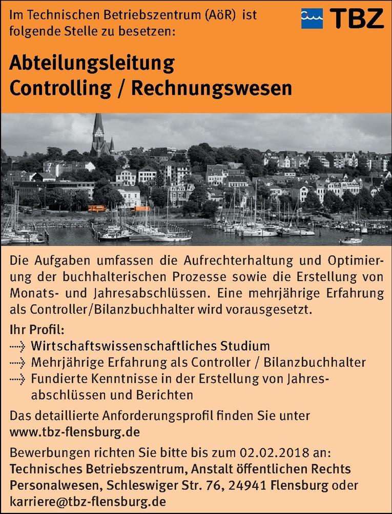 Abteilungsleitung Controlling / Rechnungswesen