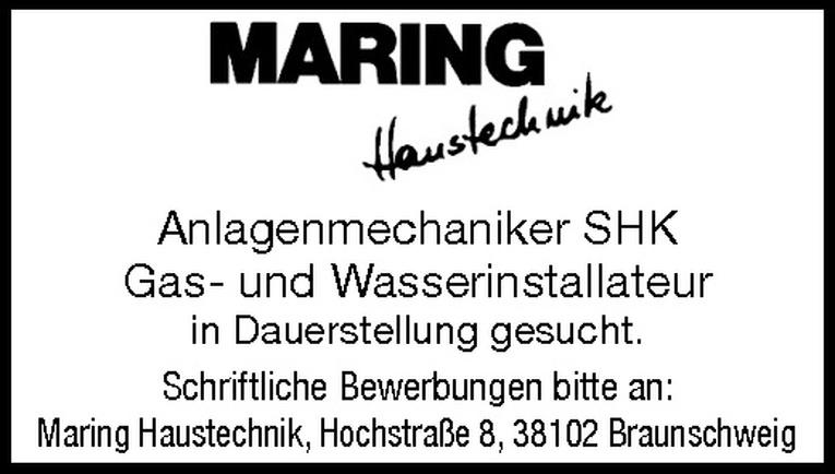 Anlagenmechaniker SHK m/w
