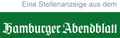 Stellenanzeige aus dem Hamburger Abendblatt