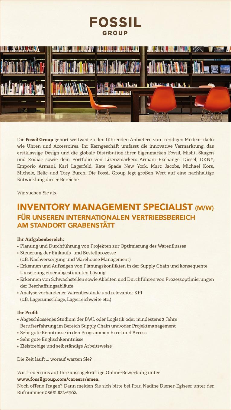 Kaufmännischer Sachbearbeiter im Inventory Management (m/w)