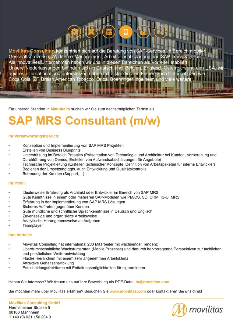 SAP MRS Berater (m/w)