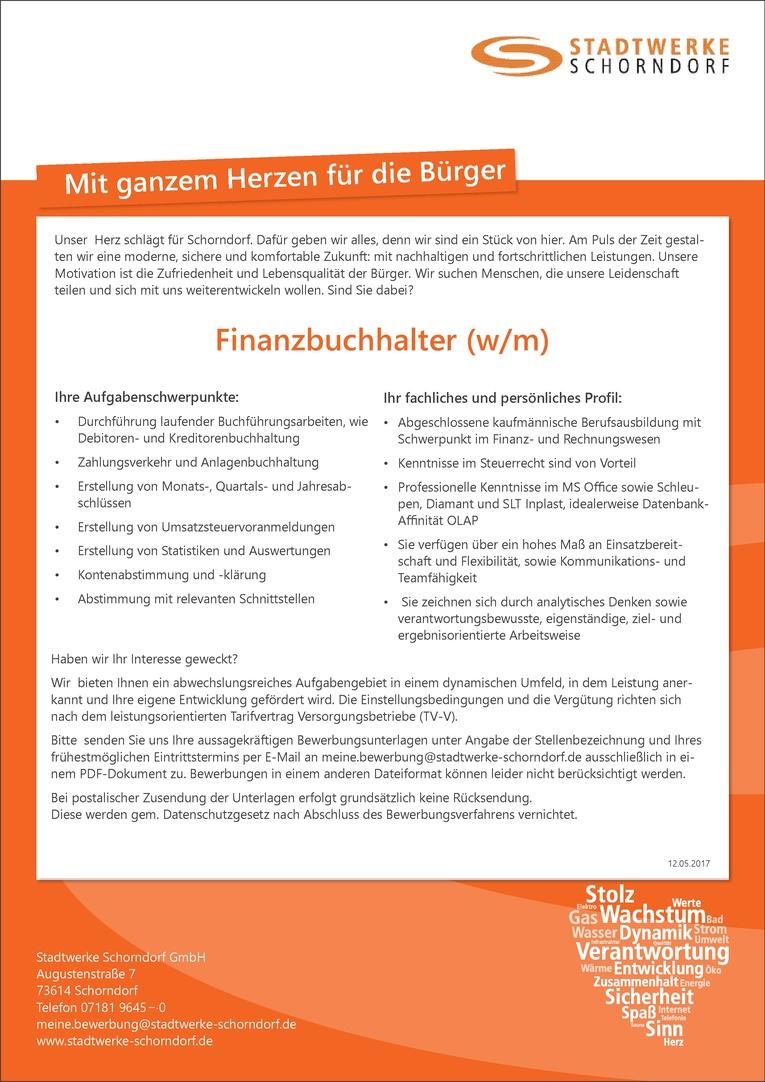 Finanzbuchhalter (w/m)
