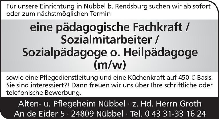 pädagogische Fachkraft / Sozialmitarbeiter / Sozialpädagoge o. Heilpädagoge (m/w)