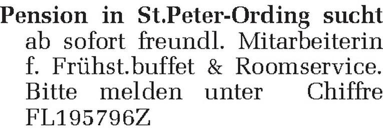 Mitarbeiterin f. Frühst.buffet