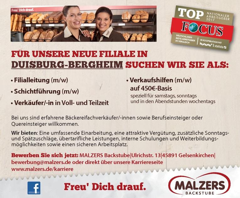 Verkäufer/-in für unsere Neueröffnung in Duisburg-Bergheim