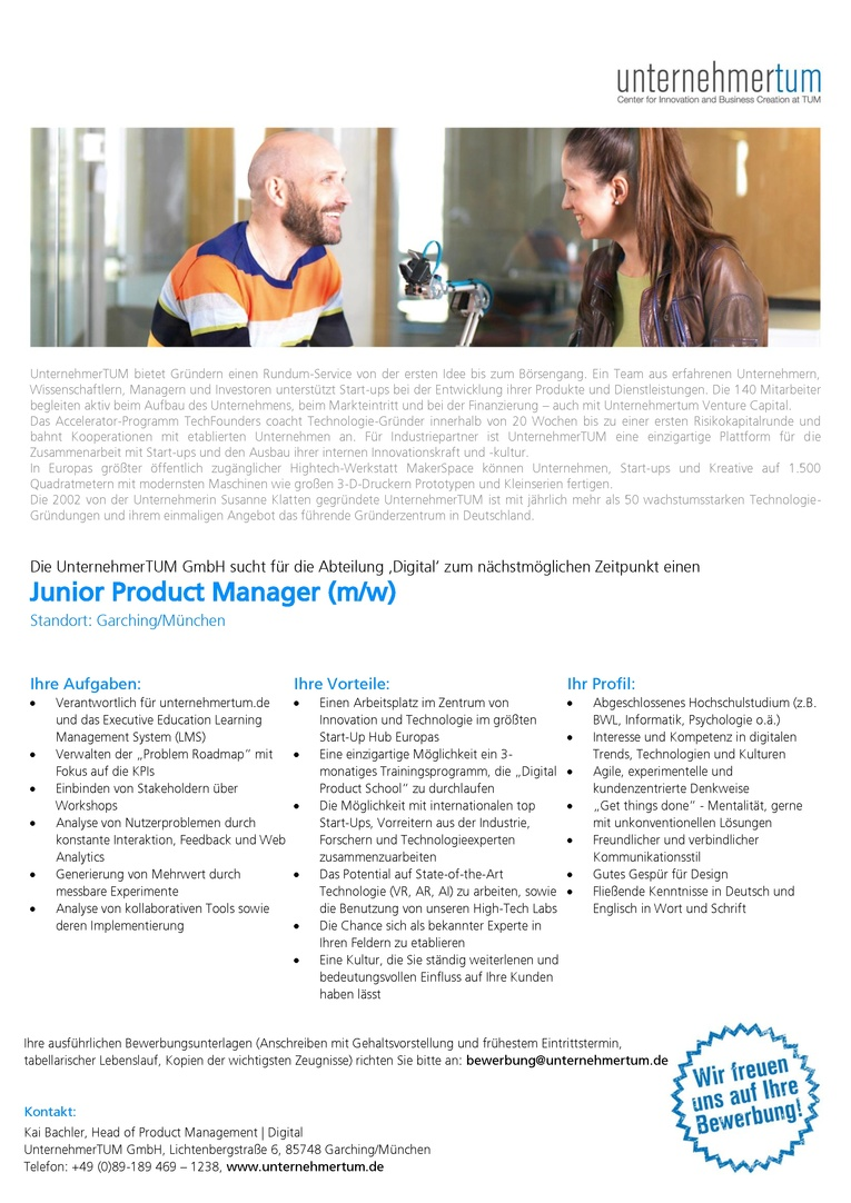 Junior Product Manager (f/m)