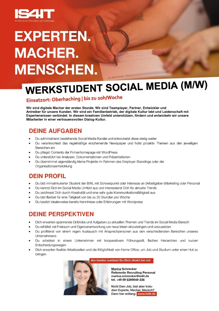 Werkstudent Social Media (m/w)