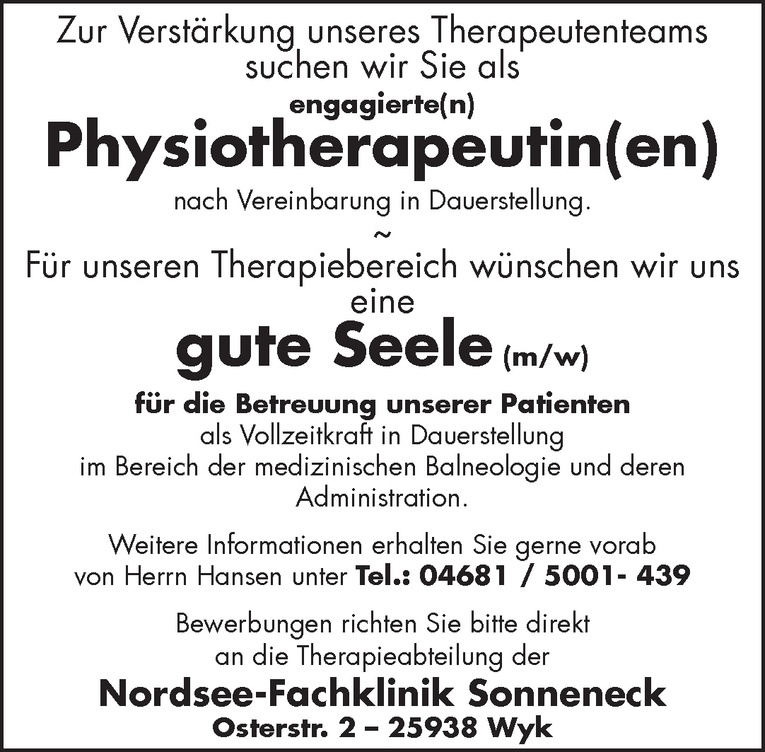 Physiotherapeutin(en)