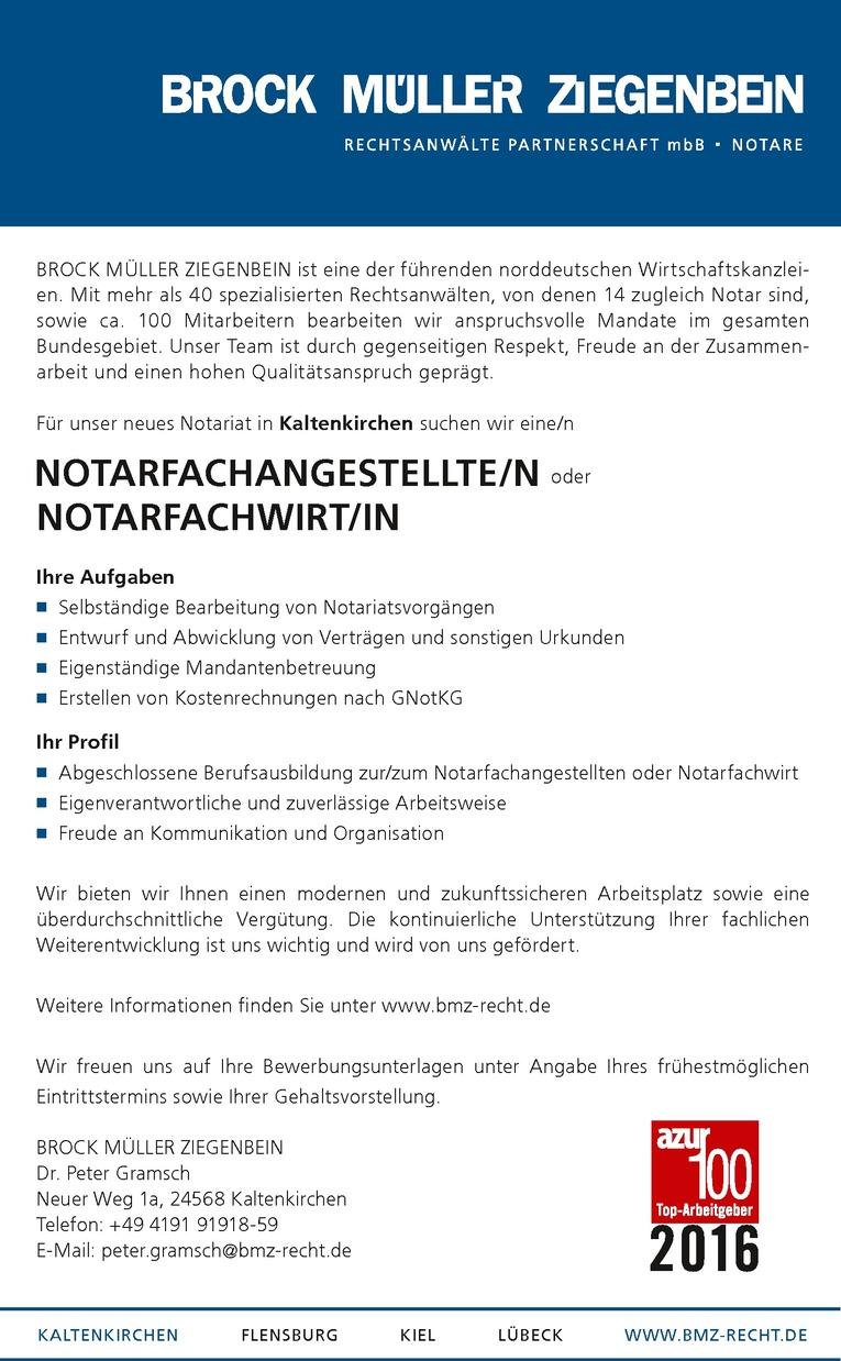 Notarfachangestellte/n oder Notarfachwirt/in