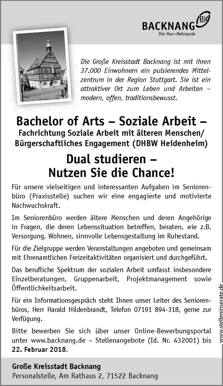 Bachelor of Arts – Soziale Arbeit –