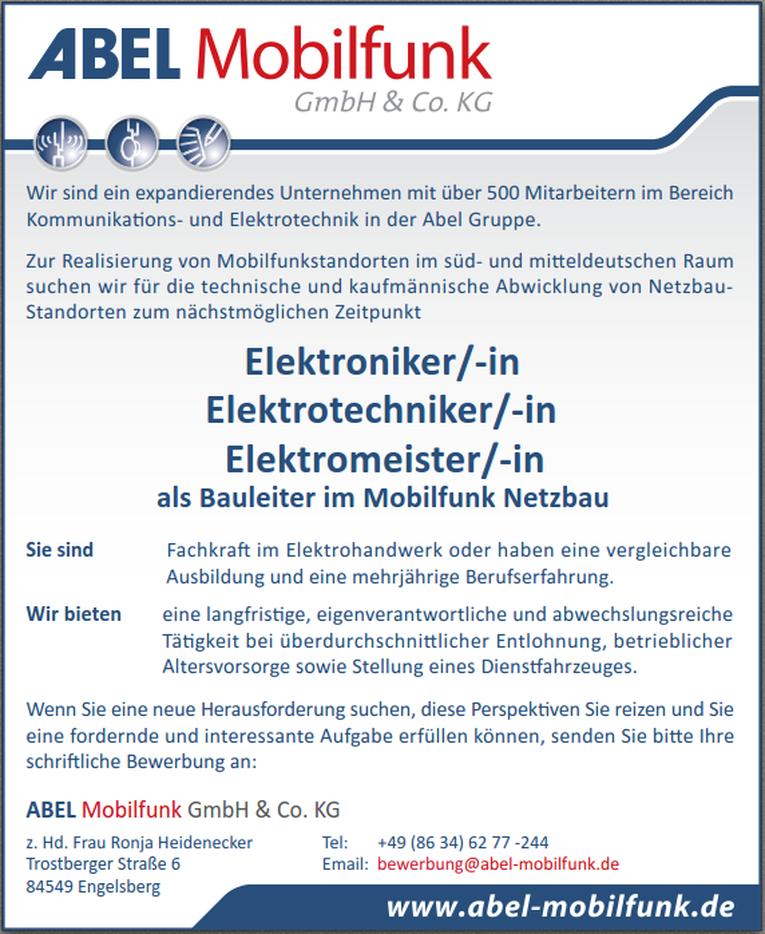 Elektrotechniker/in als Bauleiter