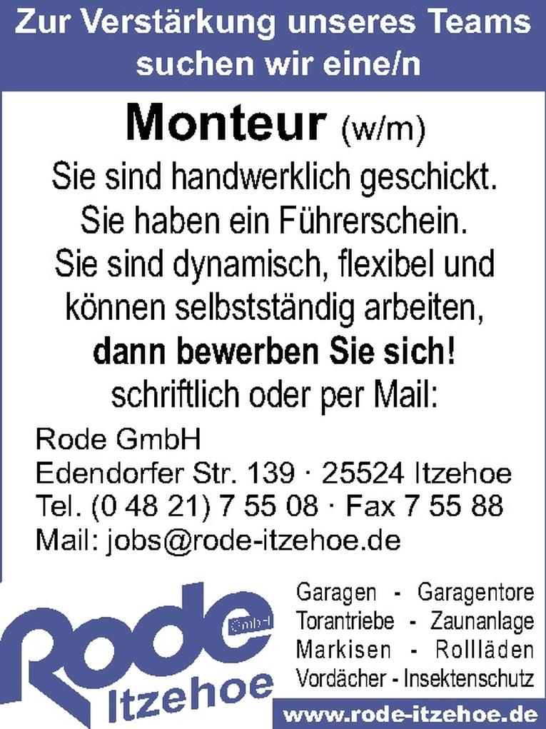 Monteur (w/m)