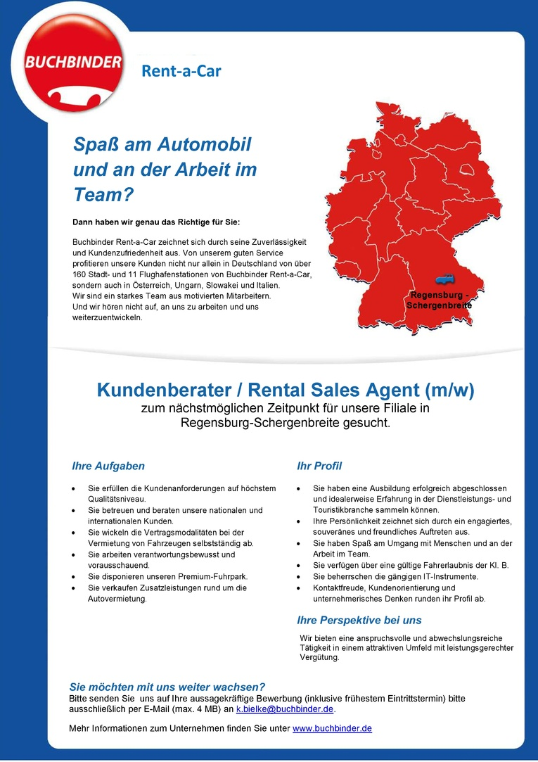 Kundenberater / Rental Sales Agent (m/w)