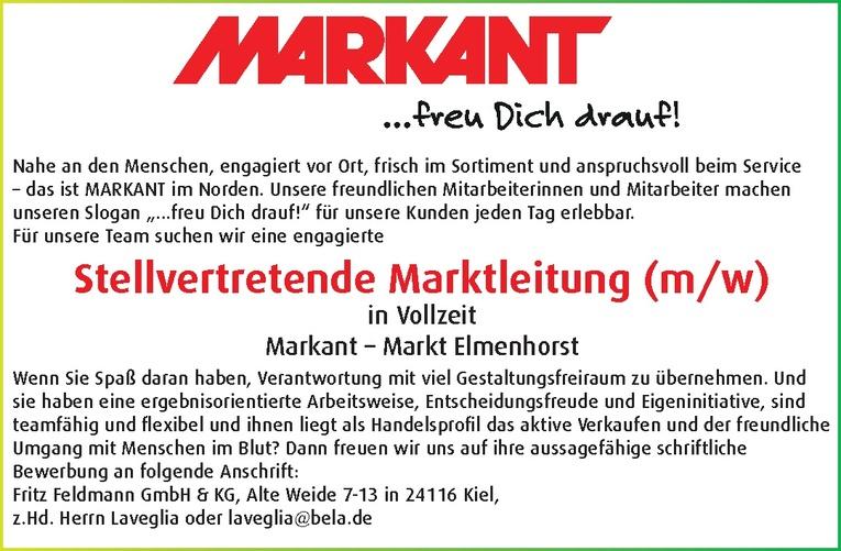 Stellvertretende Marktleitung (m/w)