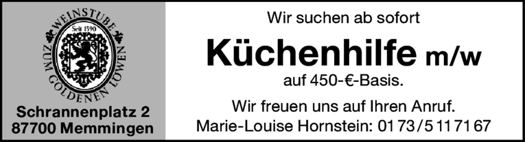 Job: Küchenhilfe m/w