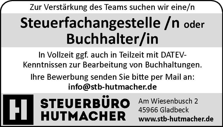 Steuerfachangestelle /n / Buchhalter/in