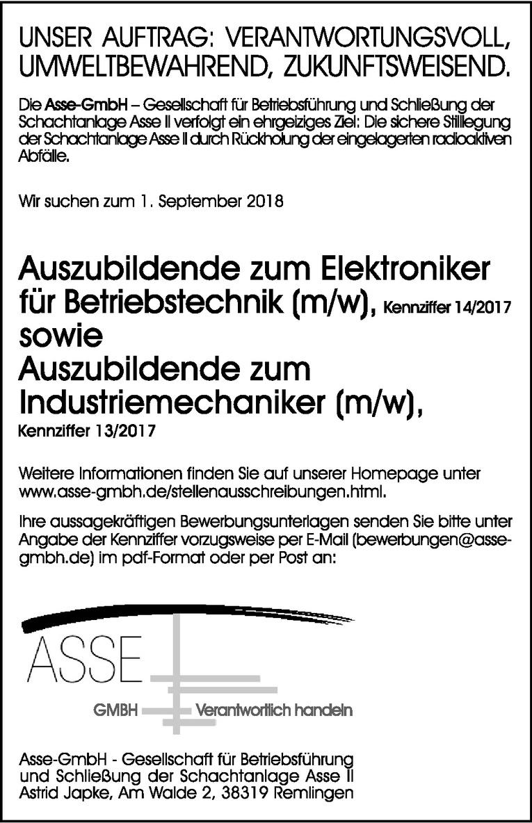 Auszubildende zum Elektroniker (m/w)