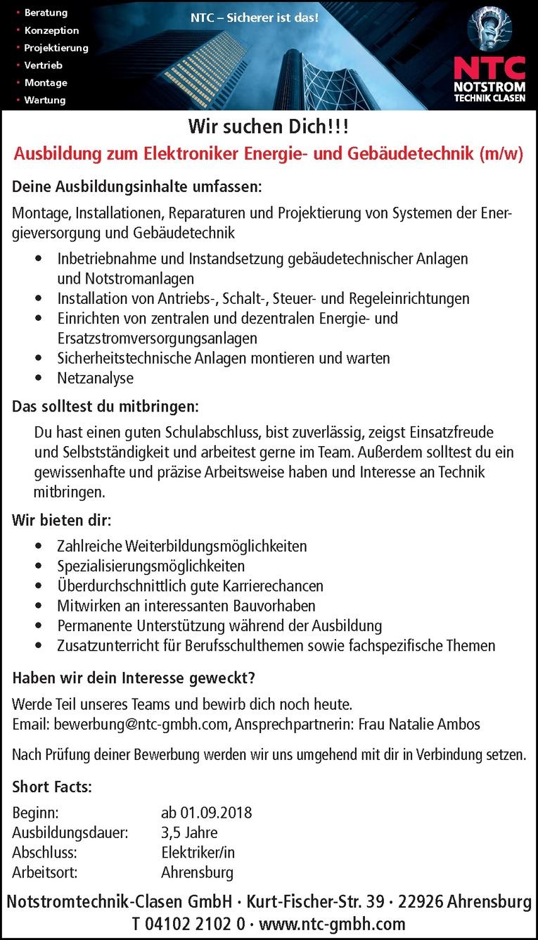 Ausbildung zum Elektroniker Energie- und Gebäudetechnik (m/w)