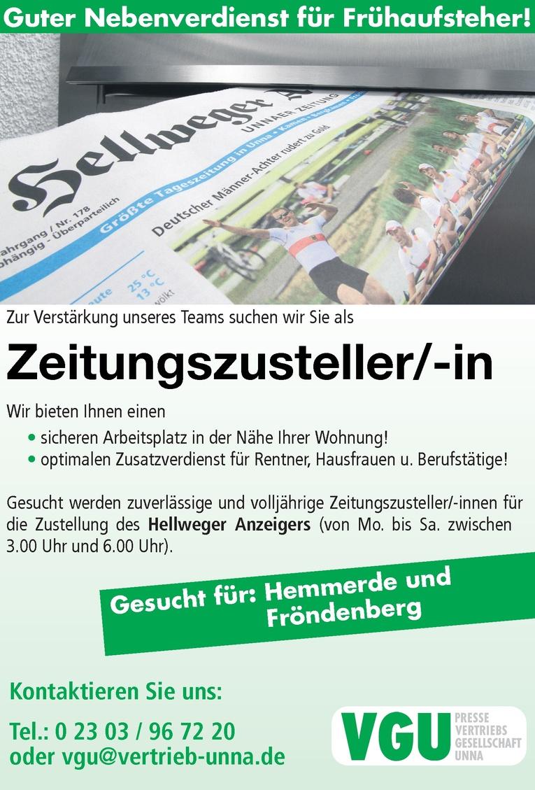 Zeitungszusteller / Zeitungszustellerin