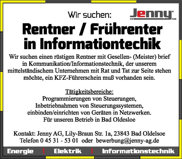 Mitarbeiter (m/w) Informationtechik