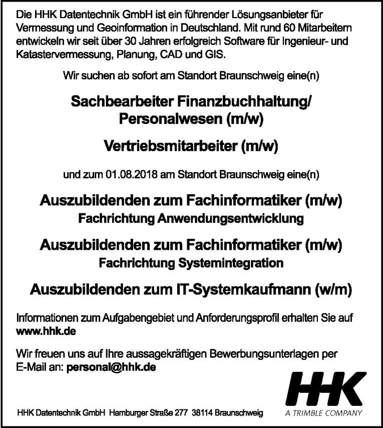 Sachbearbeiter Finanzbuchhaltung / Personalwesen (m/w)