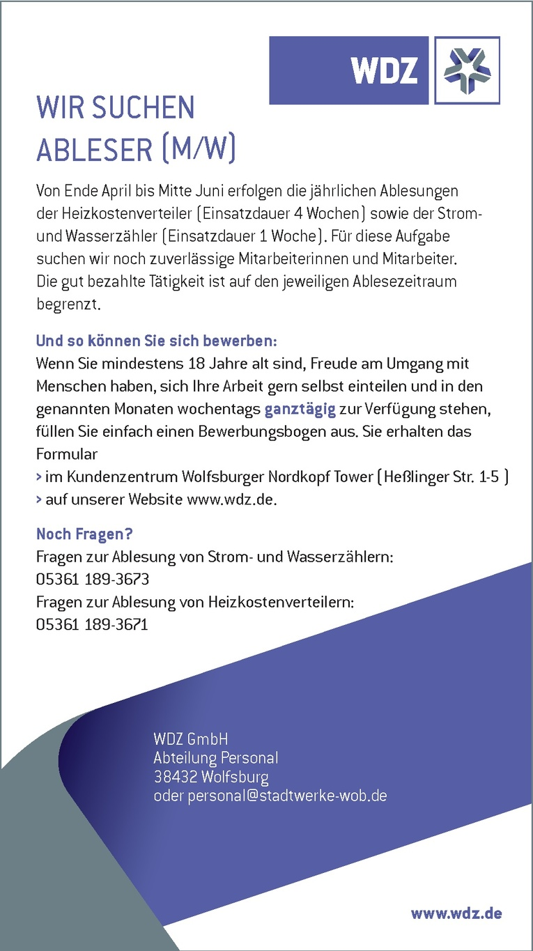 Ableser (m/w)