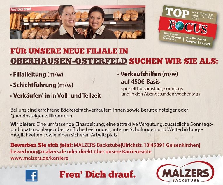 Verkäufer/-in für unsere neue Filiale in Oberhausen-Osterfeld