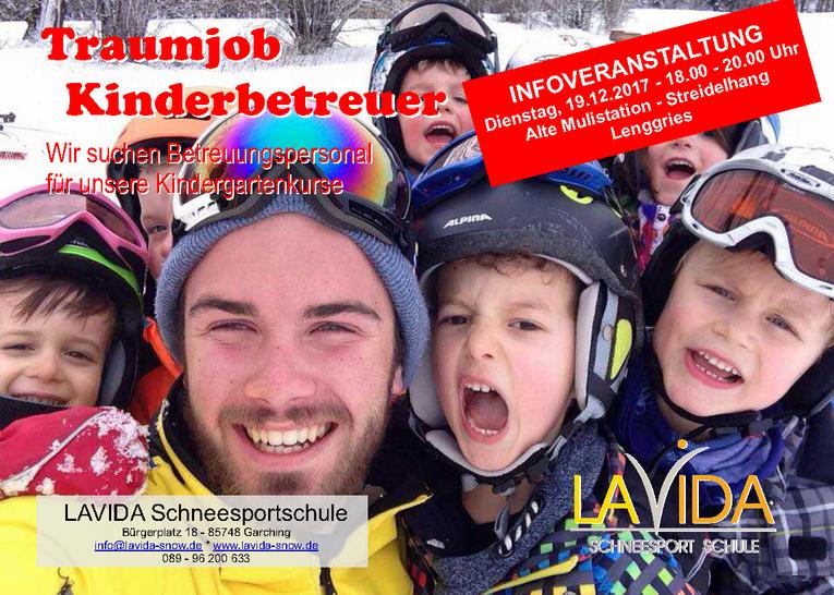 Kinder-Betreuer und Zwergerl-Skilehrer (m/w) am Brauneck gesucht