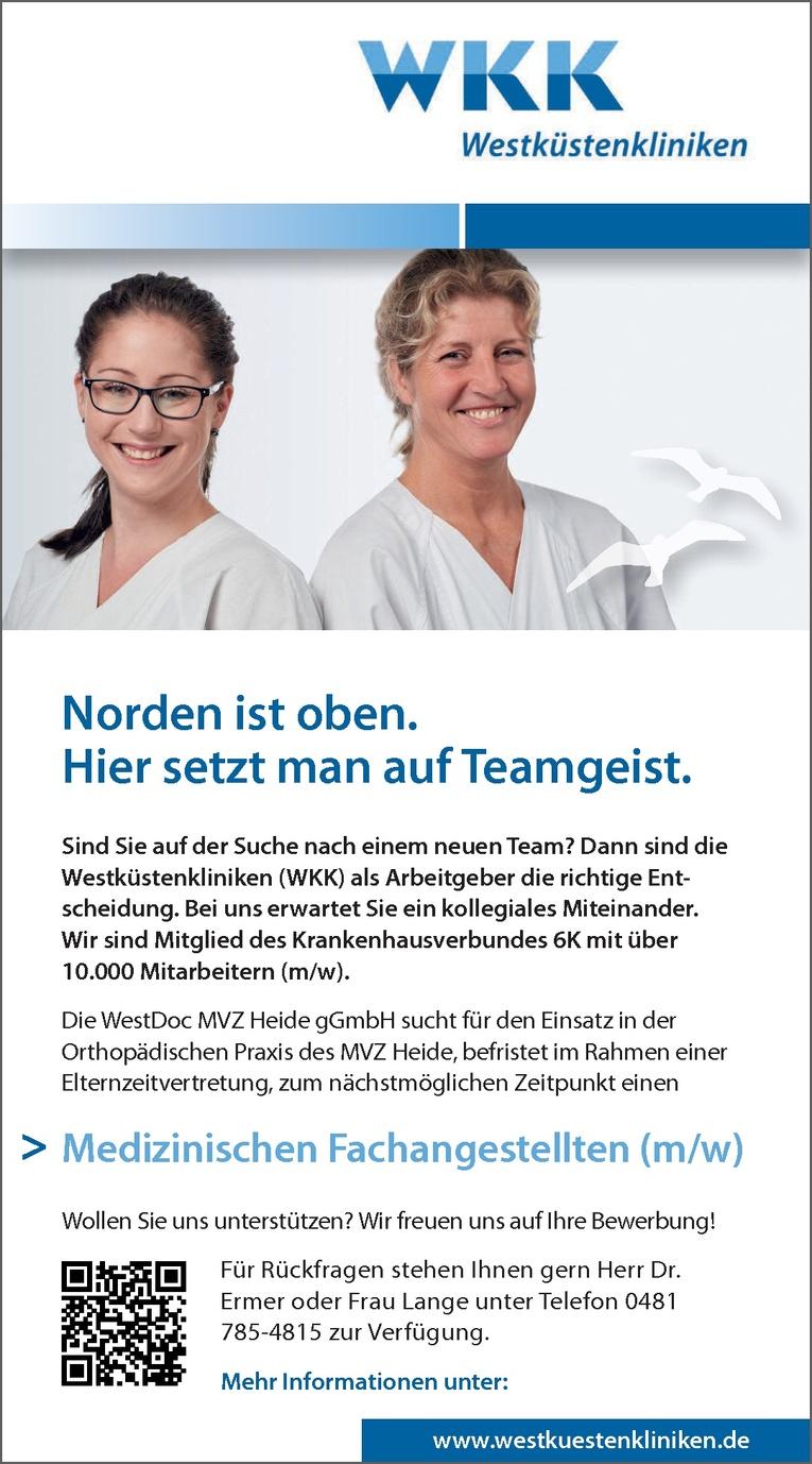 Medizinischen Fachangestellten (m/w)