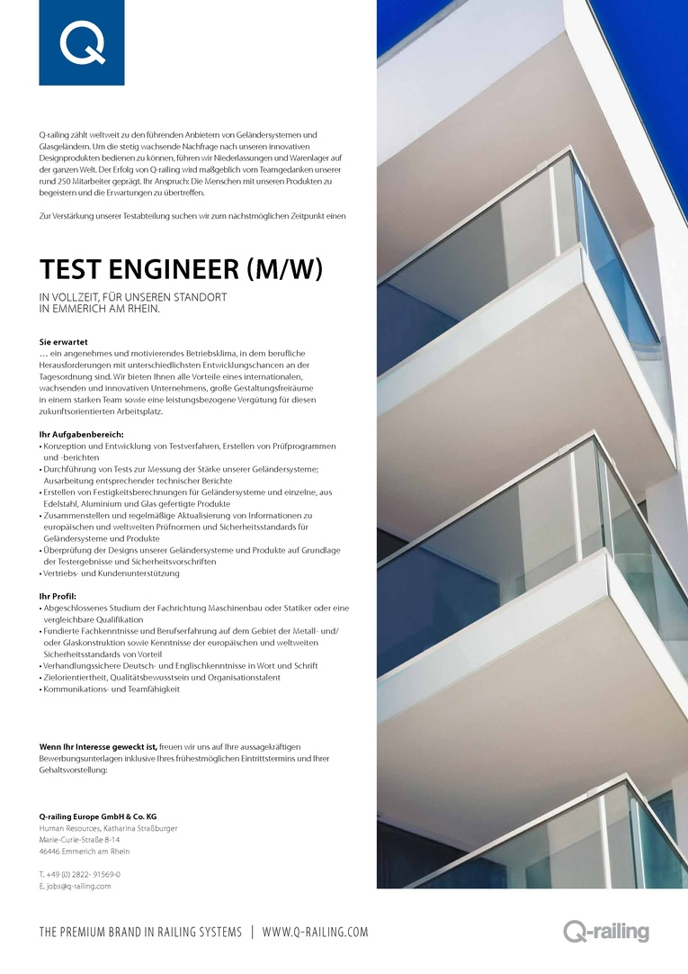 Test Engineer (m/w)