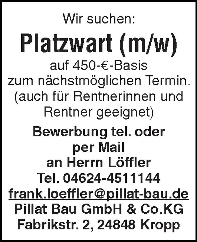 Platzwart (m/w)