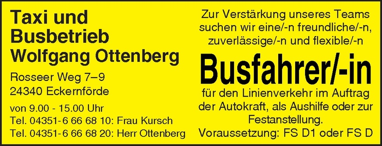 Busfahrer/-in