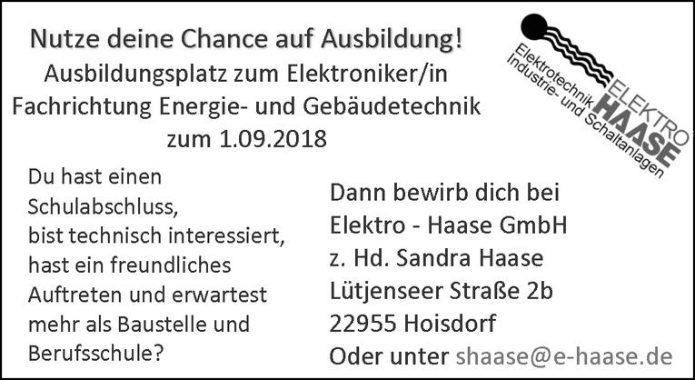 Ausbildungsplatz zum Elektroniker/in