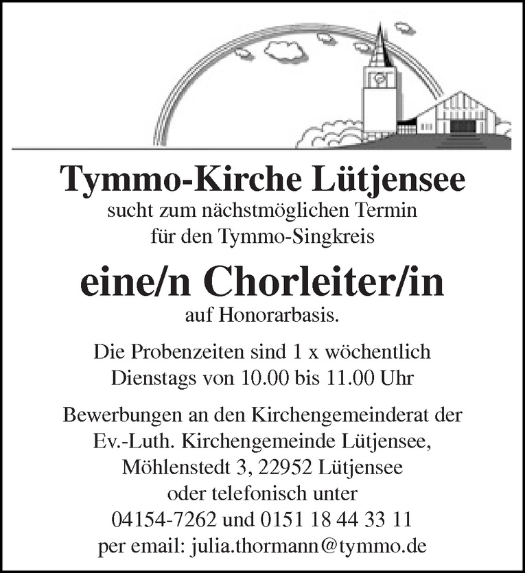 Chorleiter/in