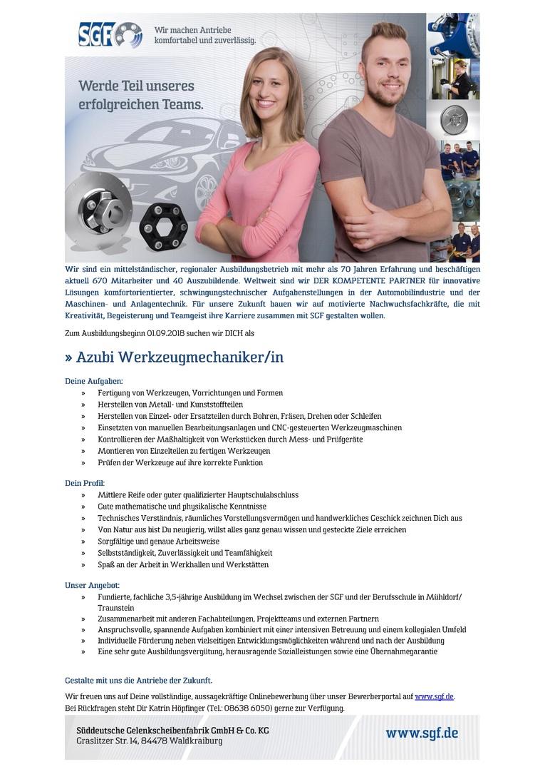 Azubi Werkzeugmechaniker/in