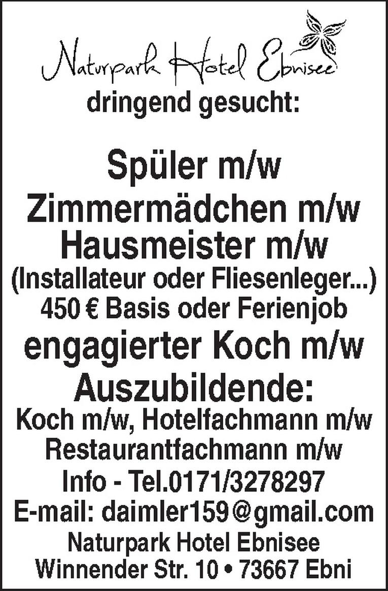 Auszubildende: Koch m/w, Hotelfachmann m/w, Restaurantfachmann m/w
