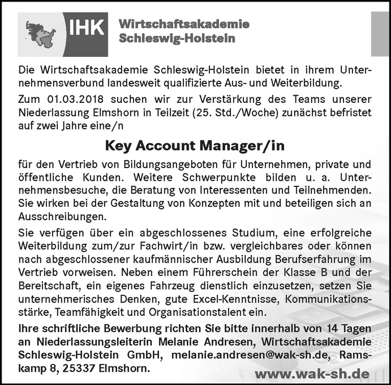 Key Account Manager/in