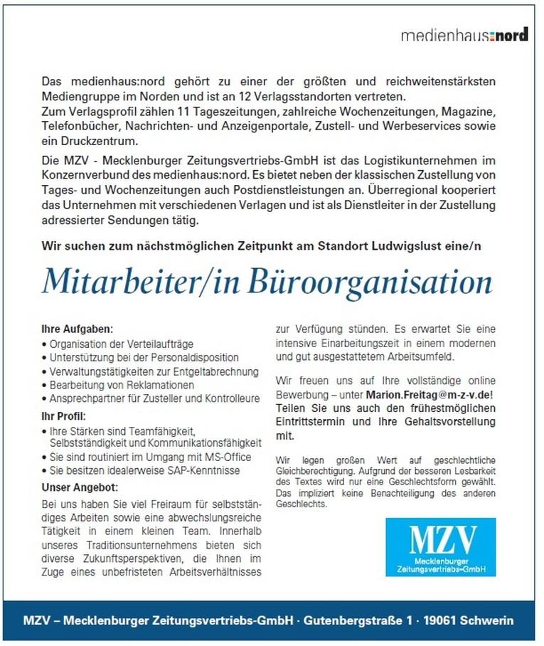 Mitarbeiter/in Büroorganisation