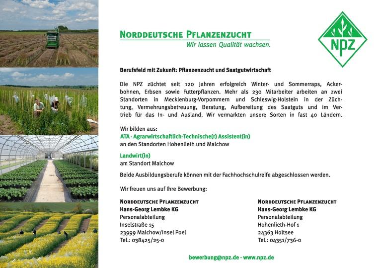 Ausbildung zum/zur ATA – Agrarwirtschaftlich - technische(n) Assistenten/in