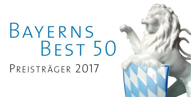 """Aufgrund unseres Wachstums in den letzten Jahren erhielten wir im Juli 2017 vom Bayerischen Wirtschaftsministerium die Auszeichnung """"BayernsBest 50""""."""