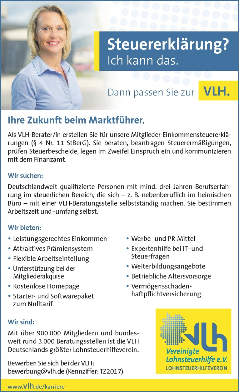VLH-Berater/in