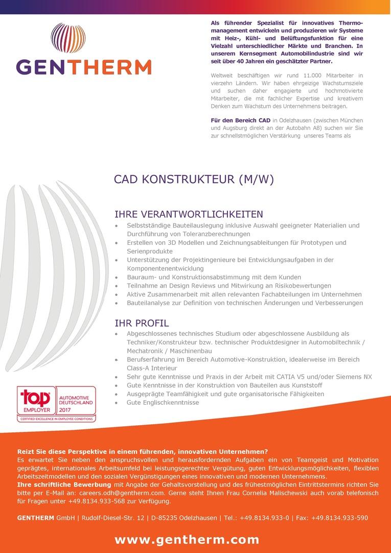 CAD Konstrukteur Interieur (m/w)