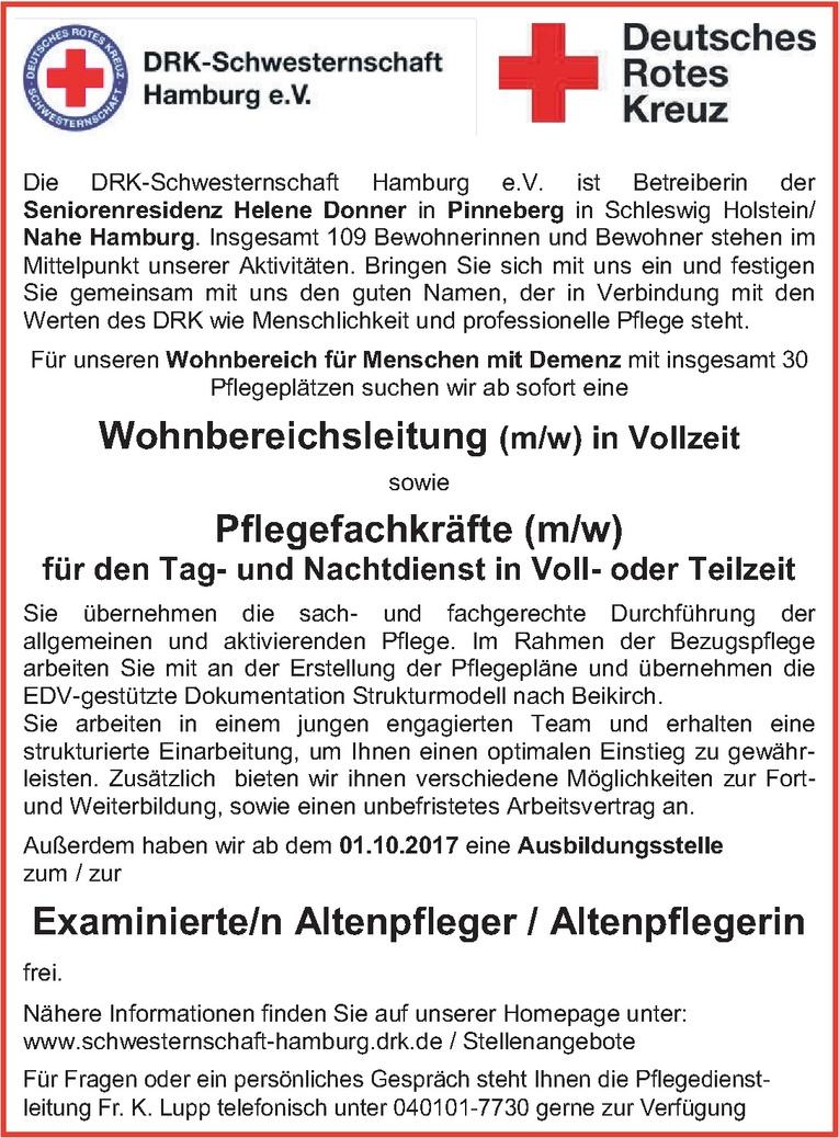 Ausbildung: Examinierte/r Altenpfleger / Altenpflegerin