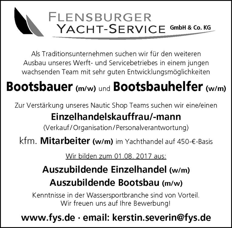 Auszubildende Bootsbau (m/w)