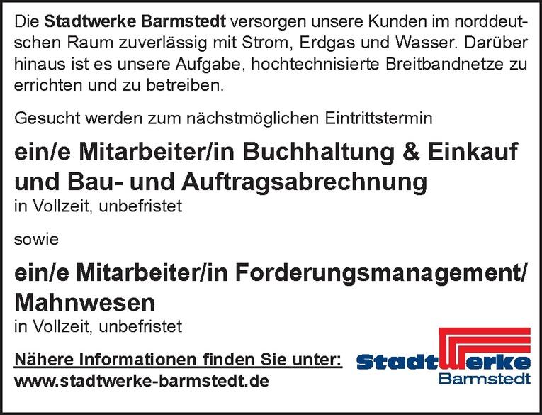 Mitarbeiter/in Buchhaltung & Einkauf und Bau- und Auftragsabrechnung