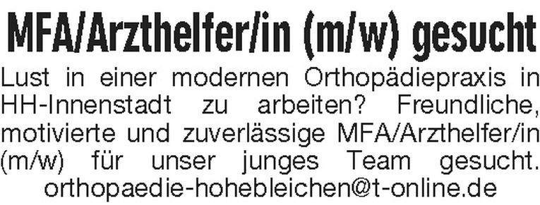 MFA / Arzthelfer/in (m/w)