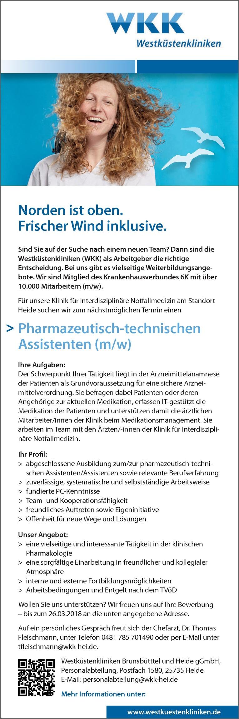 Pharmazeutisch-technischen Assistenten (m/w)