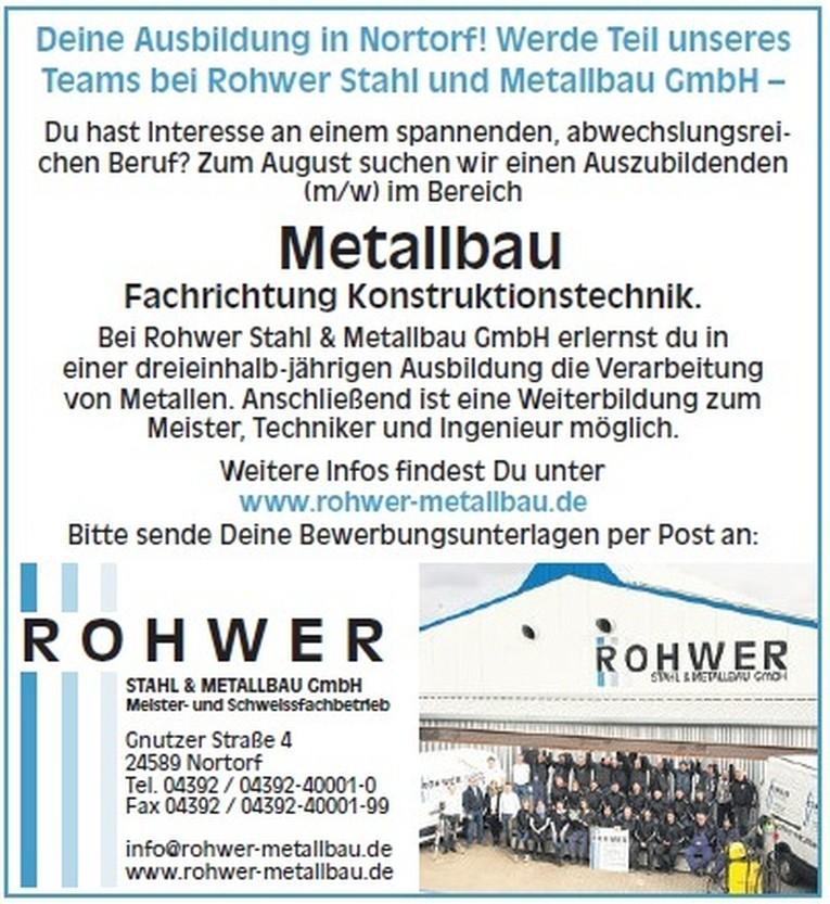 Ausbildung Metallbauer (m/w)